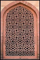 Screened marble window, Humayun's tomb. New Delhi, India ( color)