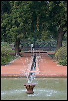 Basin and Mughal-style watercourses, Humayun's tomb. New Delhi, India