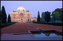 Main mausoleum at dusk, Humayun's tomb,. New Delhi, India (color)