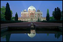 Humayun's tomb at night. New Delhi, India (color)