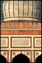Dome and arches detail, Jama Masjid. New Delhi, India