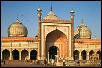 Jama Masjid, India's largest mosque, morning. New Delhi, India