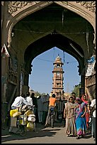 Gate leading to clock tower and Sardar Market. Jodhpur, Rajasthan, India