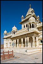 White marble memorial, Jaswant Thada. Jodhpur, Rajasthan, India (color)