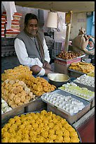 Man selling sweets and pastries. Jodhpur, Rajasthan, India