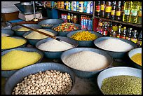 Grains and other groceries, Sardar market. Jodhpur, Rajasthan, India