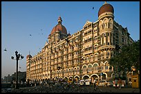 Taj Mahal Palace Hotel and pigeons. Mumbai, Maharashtra, India ( color)
