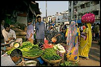 Vegetable stand, Colaba Market, Colaba Market. Mumbai, Maharashtra, India ( color)