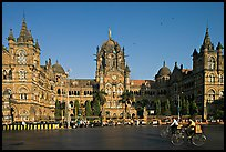 Chhatrapati Shivaji Terminus (Victoria train station), late afternoon. Mumbai, Maharashtra, India ( color)