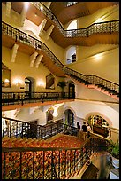 Staircase inside Taj Mahal Palace Hotel. Mumbai, Maharashtra, India ( color)