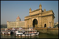 Gateway of India and Taj Mahal Palace, morning. Mumbai, Maharashtra, India ( color)