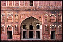 Alcove and wall, Jehangiri Palace, Agra Fort. Agra, Uttar Pradesh, India ( color)