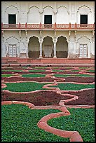 Anguri Bagh garden in Mugha style, Agra Fort. Agra, Uttar Pradesh, India (color)