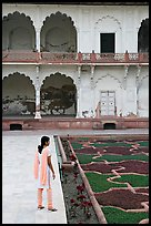 Woman in Anguri Bagh garden, Agra Fort. Agra, Uttar Pradesh, India