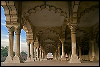 Diwan-i-Am (hall of public audiences),  Agra Fort. Agra, Uttar Pradesh, India ( color)