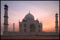 Taj Mahal at sunrise. Agra, Uttar Pradesh, India ( color)
