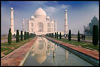 Taj Mahal and reflection, morning. Agra, Uttar Pradesh, India ( color)