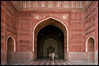Main hall of Taj Mahal masjid. Agra, Uttar Pradesh, India ( color)