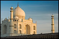 Taj Mahal and minarets, late afternoon. Agra, Uttar Pradesh, India ( color)