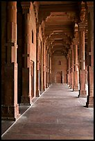 Prayer hall, Dargah (Jama Masjid) mosque. Fatehpur Sikri, Uttar Pradesh, India ( color)