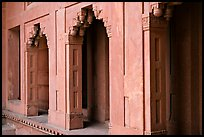 Facade detail of the Treasury building. Fatehpur Sikri, Uttar Pradesh, India ( color)
