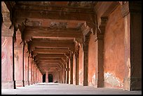 Corridor beneath the Panch Mahal building. Fatehpur Sikri, Uttar Pradesh, India ( color)