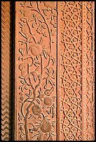 Intricate carvings on the Rumi Sultana building. Fatehpur Sikri, Uttar Pradesh, India ( color)