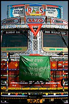 Decorated truck. Fatehpur Sikri, Uttar Pradesh, India ( color)