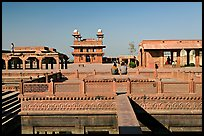 Ornamental pool and main courtyard. Fatehpur Sikri, Uttar Pradesh, India ( color)