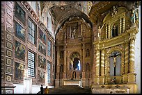 Murals and altars, Church of St Francis of Assisi, Old Goa. Goa, India ( color)
