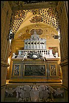 Three-tiered marble tomb of St Francis, Basilica of Bom Jesus, Old Goa. Goa, India ( color)