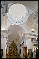Inside dome of Church of St Cajetan, Old Goa. Goa, India ( color)