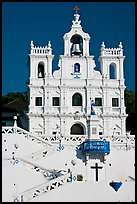 Church of our Lady of the Immaculate Conception facade, Panaji. Goa, India ( color)