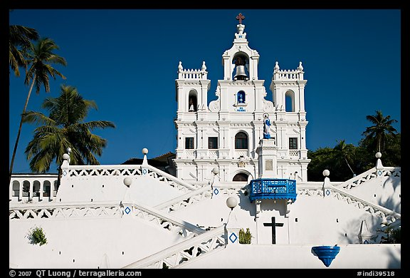 Church of our Lady of the Immaculate Conception, afternoon, Panaji. Goa, India (color)