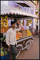 Fruit vendor, Panjim (Panaji). Goa, India ( color)