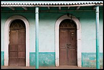 House painted green, Panjim. Goa, India