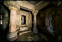 Jain temple interior, Parsvanatha temple, Eastern Group. Khajuraho, Madhya Pradesh, India (color)