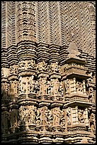 Temple carving detail, Adinath, Eastern Group. Khajuraho, Madhya Pradesh, India (color)