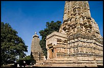 Parsvanatha and Adinath Jain temples, Eastern Group. Khajuraho, Madhya Pradesh, India (color)
