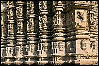 Decorated columns, Duladeo Temple, Southern Group. Khajuraho, Madhya Pradesh, India (color)