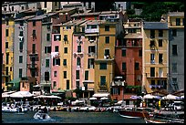 Harbor and townhouses, Porto Venere. Liguria, Italy