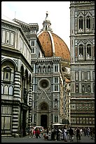 Baptistry, Campanile tower, and Duomo. Florence, Tuscany, Italy ( color)