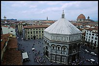 Baptistry and plazza. Florence, Tuscany, Italy ( color)