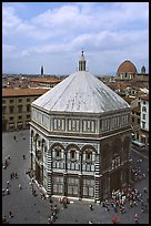 Baptistry seen from Campanile. Florence, Tuscany, Italy ( color)
