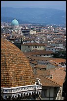 The city, with Dome by Brunelleschi in the foreground. Florence, Tuscany, Italy