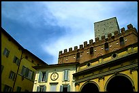 Mix of buildings of different styles. Siena, Tuscany, Italy ( color)
