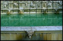 15th century Fonte Gaia (Gay Fountain). Siena, Tuscany, Italy (color)