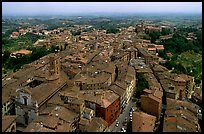 Historic town seen from Torre del Mangia. Siena, Tuscany, Italy ( color)