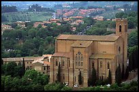 Church of San Domenico seen from Torre del Mangia. Siena, Tuscany, Italy ( color)