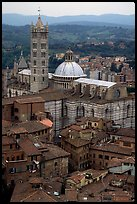 Duomo seen from Torre del Mangia. Siena, Tuscany, Italy ( color)